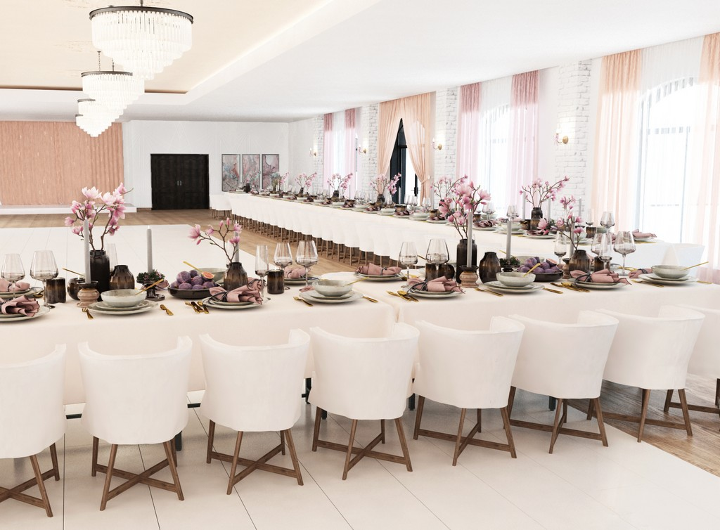 projekt sali weselnej by a2 koncept