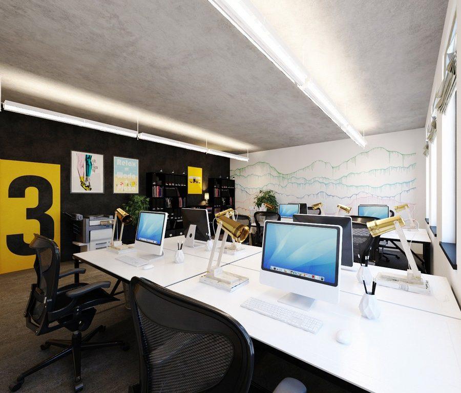 projekt biura wykonany przez a2 Koncept